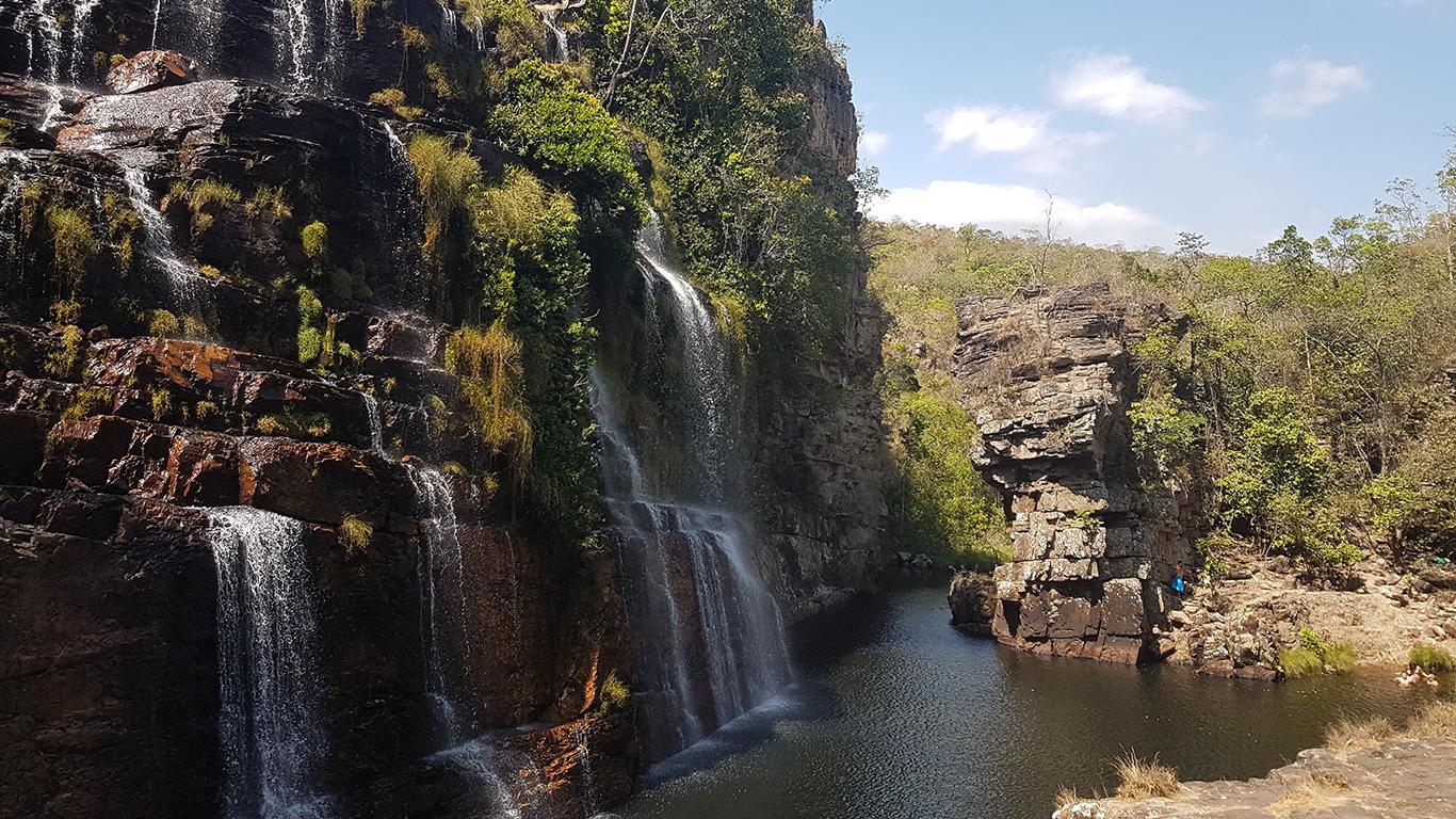 Cachoeira almécegas 1 na Chapada dos Veadeiros.