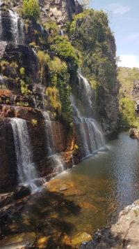 Cachoeira Almécegas 1 vista de frente pela manhã no período de seca no mês de setembro