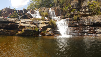 Cachoeira Almécegas 2 de dentro da piscina