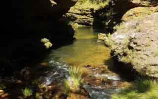 Rio da cachoeira do rodeador na Chapada dos Veadeiros
