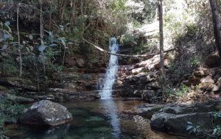 Poço curumim na cachoeira das Loquinhas na Chapada dos Veadeiros