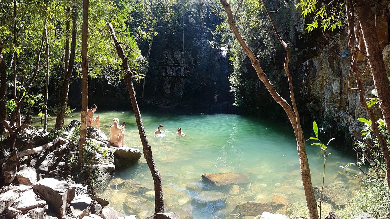 Cachoeira do garimpão ou saltos do rio preto de 80 metros.