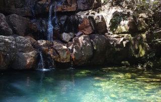 Poço do Xamã na cachoeira das loquinhas na Chapada dos Veadeiros