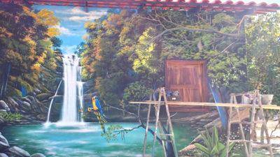 Pintura feita no CAT comunidade Kalunga na Chapada dos Veadeiros