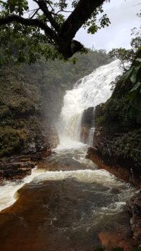 A força das águas das Cataratas dos Couros no período de Chuva