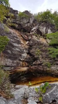Cachoeira do abismo seca sem nenhum volume de água