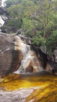 Cachoeira que fica no andar de baixo da cachoeira do abismo