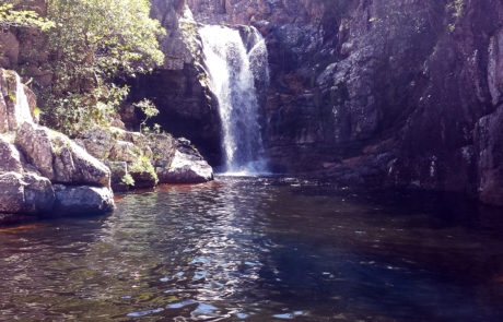 Cachoeira dos Anjos na Chapada dos Veadeiros em Alto Paraíso