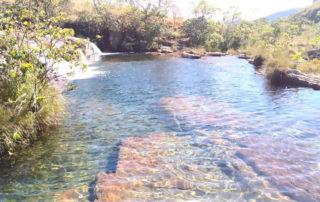 Piscina natural no rio da prata