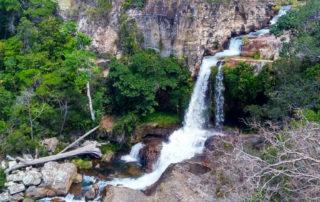 Cachoeira da Rainha no rio da Prata em Cavalcante na Chapada dos Veadeiro