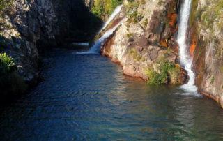Cachoeira Três Maria no complexo de cachoeiras do rio da Prata em Cavalcante na Chapada dos Veadeiros