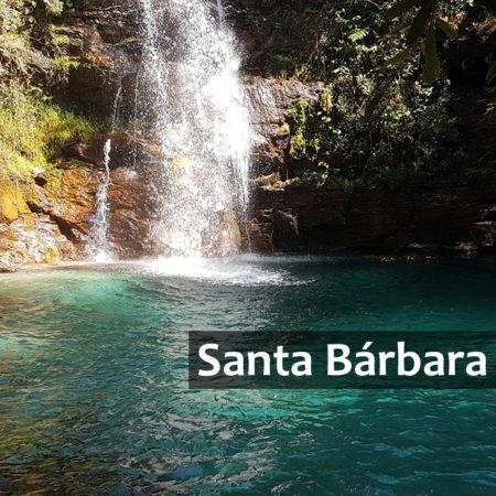 Cachoeira Santa Bárbara com legenda na imagem